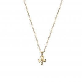Gold Baby Shamrock Necklace