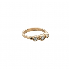 Gold Diamond Trinity Ring