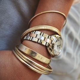 Gold Dream Bangle detailed