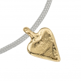 Gold Mini Heart Sailing Rope detailed