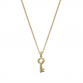 Gold Mini Dreamer's Key Necklace
