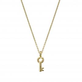 Gold Mini Dreamer's Key Necklace