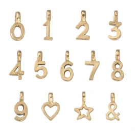 Gold Mini Alphabet Symbol detailed
