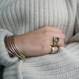 Gold Pirate Ring detailed