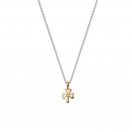 Silver & Gold Baby Shamrock Necklace