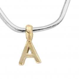 Maxi Cupid Hoops With Gold Alphabet Charms detailed