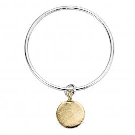 Silver & Gold Large Moon Bangle