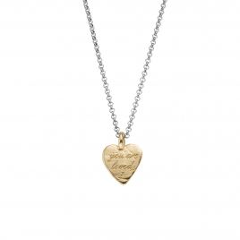Silver & Gold Medium You Are Loved Necklace
