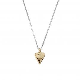 Silver & Gold Mini Heart Necklace