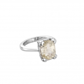 HAUKEA White Sapphire White Gold Ring