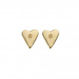 Gold Mini Heart Stud Earrings