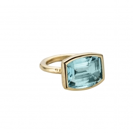 LANA Gold Aquamarine Ring