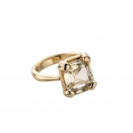 LUANA Gold Yellow Sapphire Claw Ring