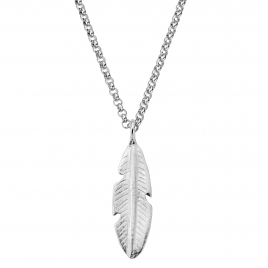 Silver Maxi Feather Necklace