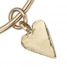 Gold Maxi Heart Bangle detailed