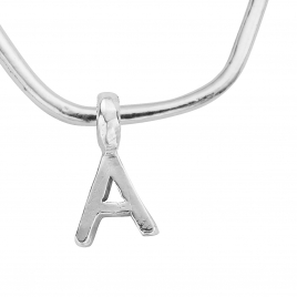 Maxi Cupid Hoops with Alphabet Charms detailed