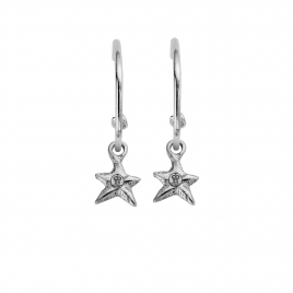 Maxi Cupid Hoops With Mini Star Charms