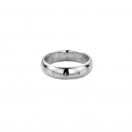 Mens Silver Arch Wedding Band