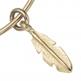 Gold Medium Feather Bangle detailed