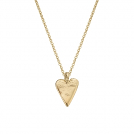 Gold Midi Heart Necklace