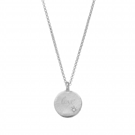Silver Diamond Midnight Moon Necklace