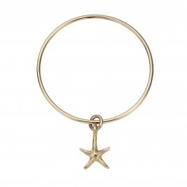 Gold Medium Starfish Bangle