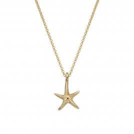 Gold Medium Starfish Necklace