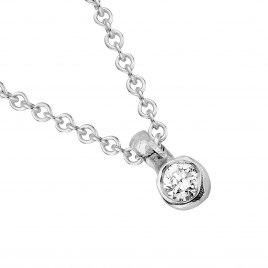 Silver Mini Diamond Necklace detailed