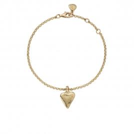 Gold Mini Heart Chain Bracelet