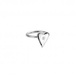 Silver Love Struck Mini Heart Ring