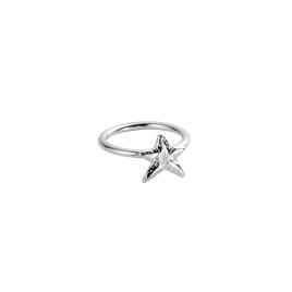 Silver Love Struck Mini Star Ring