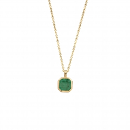 NATALIA Gold Emerald Necklace