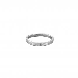 Mens Platinum Mini Posey Ring