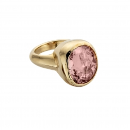 ROSEA Gold Morganite Ring