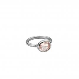 Silver Rose Quartz Baby Treasure Ring