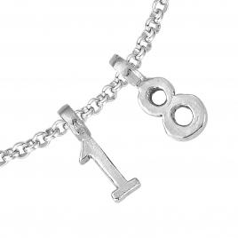 Silver Alphabet Chain Bracelet detailed