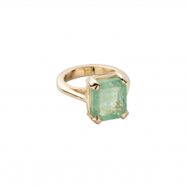 EIRENE Emerald Gold Claw Ring