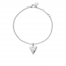 Silver Mini Heart Chain Bracelet