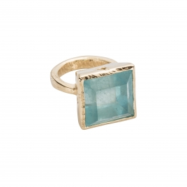 THETIS Aquamarine Gold Ring