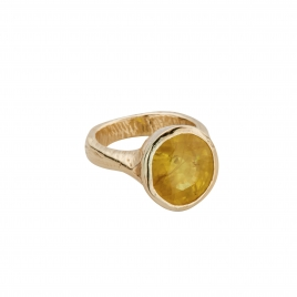 SOL Gold Yellow Sapphire Ring