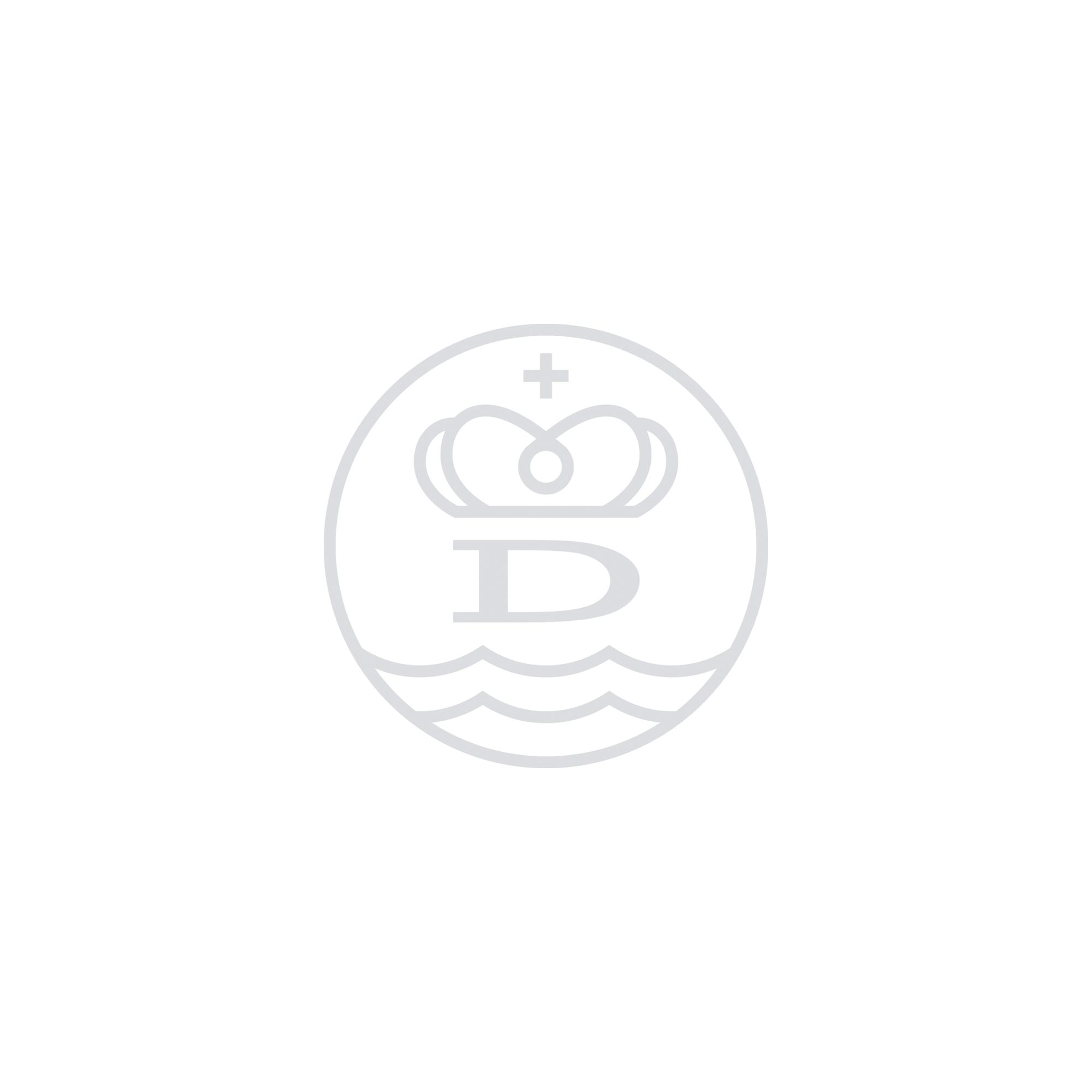 Silver & Gold Medium Bowness Acorn Bangle detailed