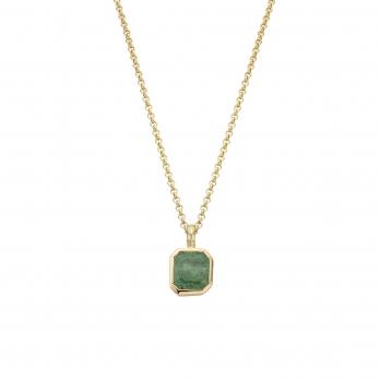 ALAMEDA Gold Emerald Necklace