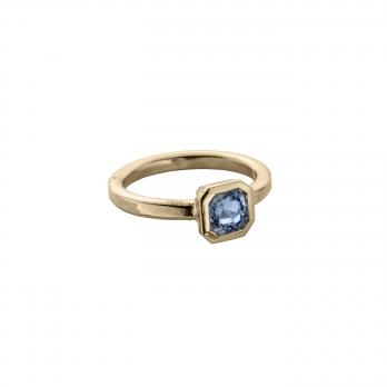 ATABEIRA Gold Blue Sapphire Ring