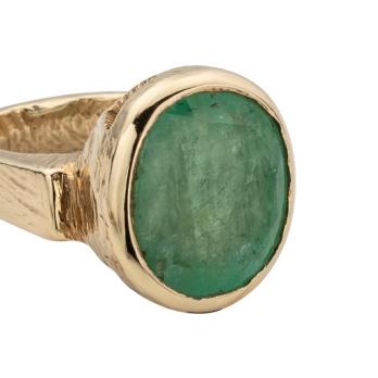 AURELIA Gold Emerald Ring  detailed