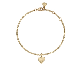 Gold Baby Heart Chain Bracelet