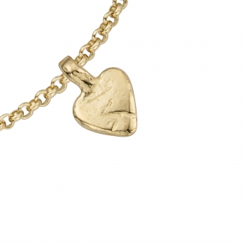 Gold Baby Heart Chain Bracelet detailed