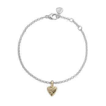 Silver & Gold Baby Heart Chain Bracelet