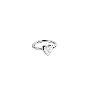 Silver Love Struck Baby Heart Ring