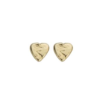 Gold Baby Heart Stud Earrings