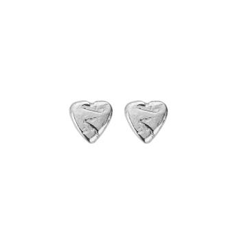 Silver Baby Heart Stud Earrings